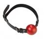 1 1/2 Red Ball Gag W/ D Ring